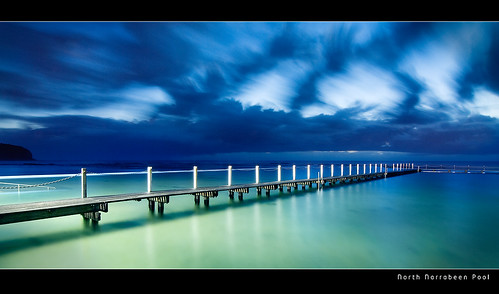 North Narrabeen Rock Pool Before Dawn