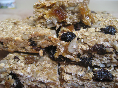 granola bar stack