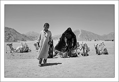 Bdouins (Anakronik) Tags: bw woman mountains canon blackwhite bravo child desert noiretblanc egypt hijab niqab eos350d bedouins soe hdr hurghada egypte montagnes dsert chameaux dromadaires efs1785isusm magicdonkey bdouins abigfave anakronik infinestyle