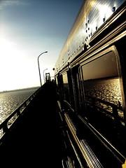 saliendo de maracaibo a tucacas (liss_mcbovzla) Tags: bridge lake bus sunrise puente lago venezuela amanecer zulia sobre maracaibo