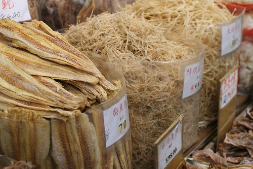 Dried seafood market: Hong Kong