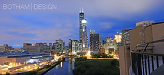 South Loop | River City Roof Deck 01 (Christopher James Botham) Tags: city sunset urban chicago skyline architecture night clouds illinois cityscape dusk searstower roofdeck chicagoriver southloop rivercity 311southwacker willistower