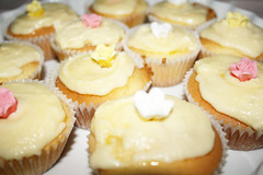 vanilla butter cupcakes (wolvessss) Tags: old light white flower cute home cakes cup floral cake vintage dessert cupcakes baking yummy soft sweet decoration bowl made cupcake butter button sweets icing material vanilla delicate bake porcelain frosting