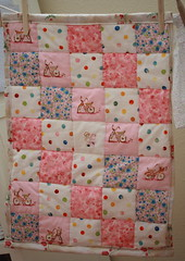 dolly quilt (UncommonGrace) Tags: pink handmade embroidery dollquilt