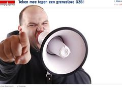 Website van Eigen Huis tegen OZB-beleid