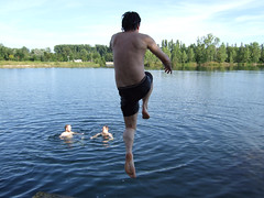 Blaue Adria - Sprung in's Wasser