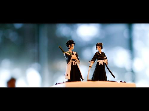 Samurai cake dolls