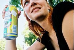 one eye beer (Michal Bednrik) Tags: petra bratislava superia200 pentaxmz5n