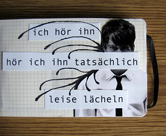 (medejavecu) Tags: wood white man black guy moleskine smile collage paper table book drawing diary mann papier weiss schwarz hear feelings typ hre lchle