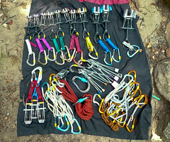 Trad Rack (mike.palic) Tags: rock illinois nuts cams southern climbing rack pro leading slings bluff drapers plugging camalot