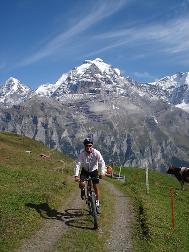 High Above Murren in Swiss Alps