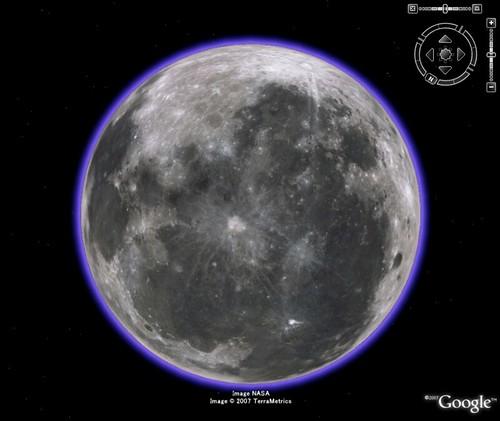 グーグルアースの月