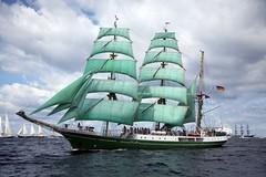 Alexander von Humbolt (Bruno Girin) Tags: green clouds race wow baltic german tallships barque humbolt alexandervonhumbolt tallshipsracesbaltic2007