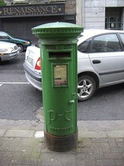 Green post box