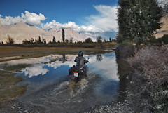 Riding a dream (Motographer) Tags: nikon adventure valley motorcycle himalayas jk mcg ladakh royalenfield hunder nubra deskit motography motorcyclegetaways