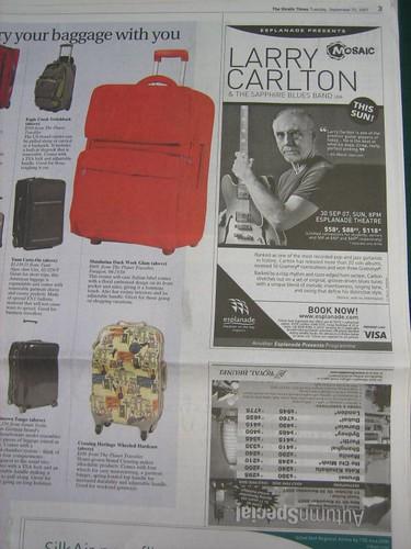 Straits Times ad - upside down?!