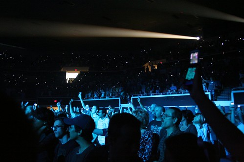 cell phones at a concert