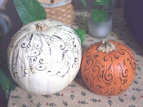 stamps on pumpkins