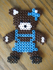 Perler Bead Bear Girl (Kid's Birthday Parties) Tags: bear teddybear bead perler perlerbeads girlbear