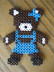 Perler Bead Bear Girl (Kid's Birthday Parties) Tags: bear teddybear bead perler perlerbeads girlbear