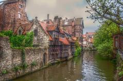 canal alley in Bruge Belgium