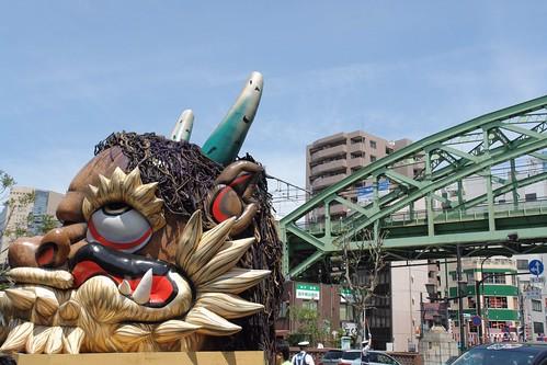 Kanda Matsuri : Oni and JR Soubu line