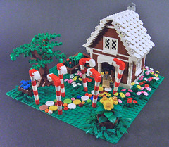 Mrs. Crandall's Candy Cottage (S.L.Y) Tags: flowers tree fairytale garden lego gingerbreadhouse candycane hansel gretel