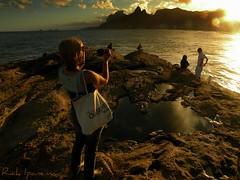 Ipanema Beach - Rio de Janeiro - Brasil (.**rickipanema**.) Tags: sunset brazil portrait sol praia rio brasil riodejaneiro praiadeipanema ipane