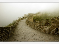 Fog, what a surprise (Kaj Bjurman) Tags: china yellow fog wall eos chinese beijing 5d sephia kina hdr kaj mkii markii cs4 photomatix bjurman