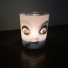 Creepy Doll Candle