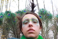 (jess42camp0) Tags: portrait selfportrait halloween self costume feathers peacock