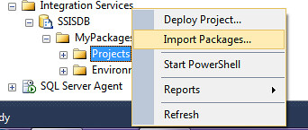 Import SSIS Packages