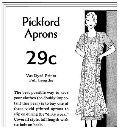 pickford apron