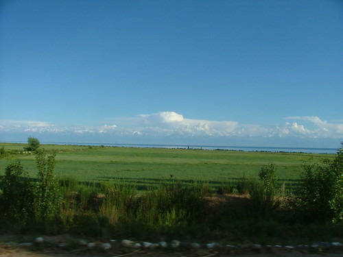 Lake Issyk-Kul and the Ala-Too Mountains