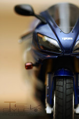 Yamaha YZF R1 scaled model (tekstyleslr) Tags: blue macro d50 model nikon flash sigma motorcycle yamaha r1 superbike 105mm