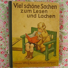 Viele schne Sachen zum Lesen und Lachen (*Pppilottchen aka dollily*) Tags: old birds kids vintage buch book teddy antique alt kinder frog vgel childrensbook frosch ilustrations illustrationen kinderbuch