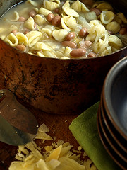 Peasant food (redcipolla) Tags: stilllife dinner soup beans pasta onions homemade cabbage peasant orecchiette borlotti blueribbonwinner