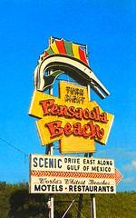 Pensacola Beach sign (stevesobczuk) Tags: florida worlds beaches pensacolabeach miraclestrip redneckriviera whitest us98