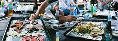 meat and yakisoba (bobby stokes) Tags: summer hot slr film japan diptych barbie natura bbq meat 1600 sausages fujifilm analogue yakisoba nagano obon fujicolor natura1600 fujinatura1600 fujifilmnatura1600 fujicolornatura1600
