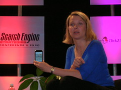 Marissa Mayer demos the iPhone