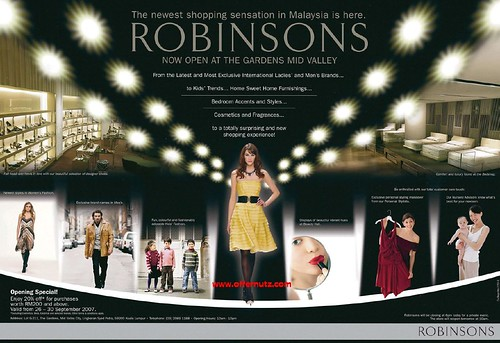 "Robinson ""Opening Special @ The Gardens Mid Valley"""