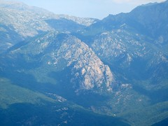 Village d'Ortu et arête Sud du Sant'Eliseu
