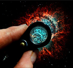 Gears of Time (freejay3) Tags: clock look photoshop manipulated wow dark lens see weird scary hand time space watch creepy nebula orion unusual cogs gears mechanism magnify magnification manipulate freejay freejay3 photoshoptalent