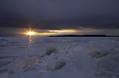 Sunrise star (KarenR-TB) Tags: ice sunrise lakesuperior blueribbonwinner anawesomeshot
