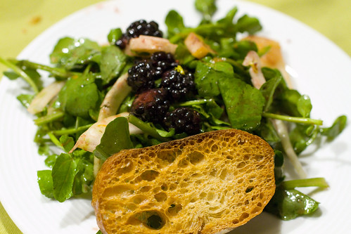 Blackberry and Asian Pear Salad