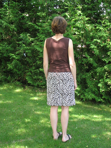 Butterick 3344 top / Burda 02/2010 skirt
