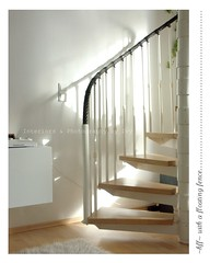 ~ floating fence (Iro {Ivy style33}) Tags: wood light white home stairs shadows minimal interiordesign cyclical thepenthouse stairstoheaven welivehere fencefriday happyfencefriday ~hff~ interiorsphotographybyivy ~floatingfence