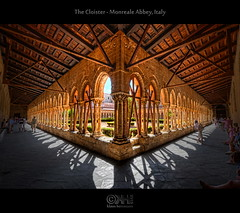 The Cloister - Monreale Abbey, Italy (HDR) [Explored] (farbspiel) Tags: travel red vacation italy orange holiday colour rot history tourism colors abbey sunshine yellow photoshop geotagged religious temple photography ancient nikon worship colorful colours cathedral religion belief wideangle historic holy gelb journey blended ita handheld mystical glowing cloister colourful spiritual dri hdr highdynamicrange sicilia watermark hdri farben tempel blend heilig monreale sonnenschein superwideangle niceweather 10mm postprocessing glaube dynamicrangeincrease ultrawideangle d90 photomatix digitalblending religis tonemapped tonemapping watermarking detailenhancer topazadjust topazdenoise klausherrmann topazsoftware sigma1020mmf35exdchsm topazphotoshopbundle geo:lat=3808172893 geo:lon=1329188257