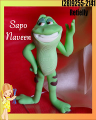 Sapo Naveen (Rety Neves Biscuit) Tags: biscuit fria porcelana personagens