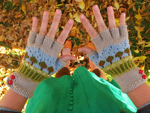 Leaves and gloves